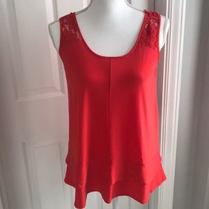CeCe tank top with lace detail
